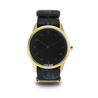 HYPERGRAND - 01 Basic Collection - GRENVILLE Quebec Town Watch - Gold Black Dial
