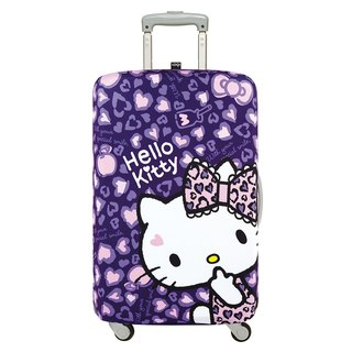 LOQI luggage jacket / KITTY leopard purple [L]