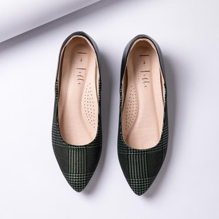 Check pattern with shoes _ green black