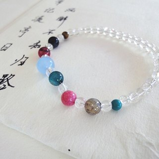 Teacher's Day gift - Years Star - burst white crystal bracelet