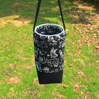Cute dogs beverage bag/water bottle holder/beverage carrier/bunch pocket