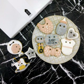 Liou Na hand made sugar cookie saliva biscuits ((chick female baby 10)
