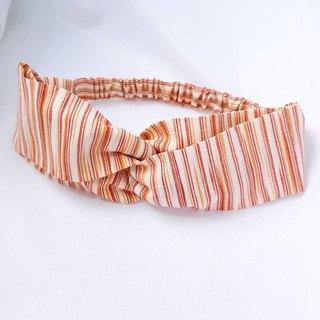 Orange stripes handmade hair band