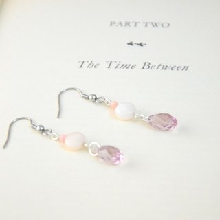 Romantic Swarovski Briolette Light Amethyst Beads Earrings