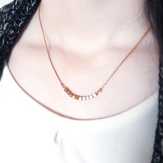 ♦ ViiArt ♦ Rocks ♦ Brass Clavicle Short Necklace