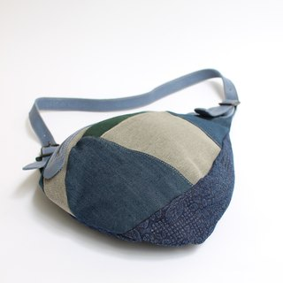 Shoulder bag · canvas · denim patchwork