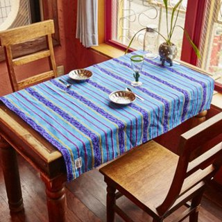 Pre-ordered Guatemalan striped fabric / tablecloth (four colors) GXXP7932