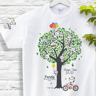 Panda and green tree Panda and Green Tree T-shirt 150 160 S-XL size 【Custom order】