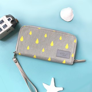 yellow printed wallet,mobile phone wallet