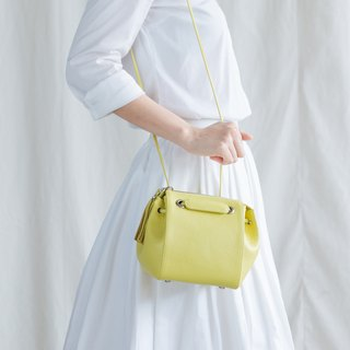 CUDDLE BAG - LEATHER CROSS BODY/HANDBAGS-YELLOW