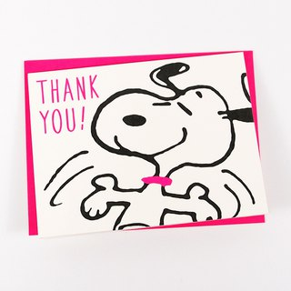 Snoopy I'm glad I have you [Hallmark-Peanuts Snoopy - Stereo Card infinite thanks]
