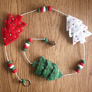 Handmade Felt Hanging Christmas Ornament Star, Tree, Socks
