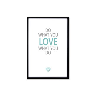 HomePlus Decorative Frame Do What You Love Magazine Black 63x43cm Wall Decor