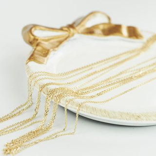 9K gold necklace chain