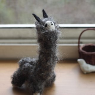 Panda Eye Grey Alpaca 16cm High