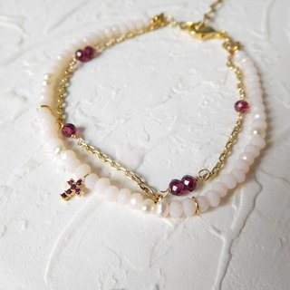 Mini Red Cross Double Bracelet