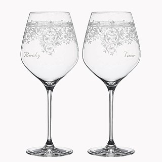 (One pair price) 230cc [Germany] SPIEGELAU retro love LOVE Art platinum crystal glasses for champagne glass lettering married cup design Champagne