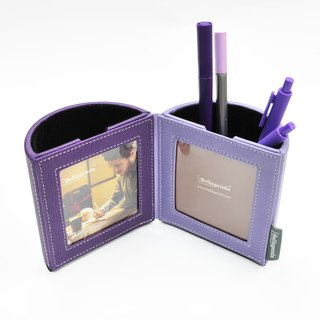 Bellagenda Italian Open Photo Frame Pen Holder Purple