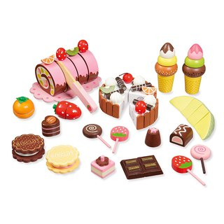 Unstoppable sweet honey. Wooden dessert accessories package
