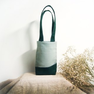 Handmade Forest Drink Bunting Bag (Small Tote) - Forest Green