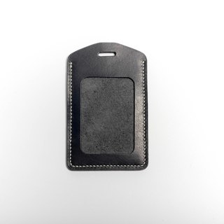 Egawa [Hands] documents folder, travel card sets (graphite black straight) pure hand-stitched leather