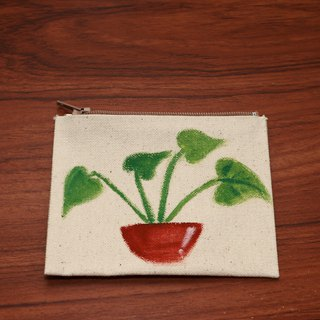 (DUO & Lele joint limited edition products) Fresh small potted plant # 3 coin purse (limited edition)