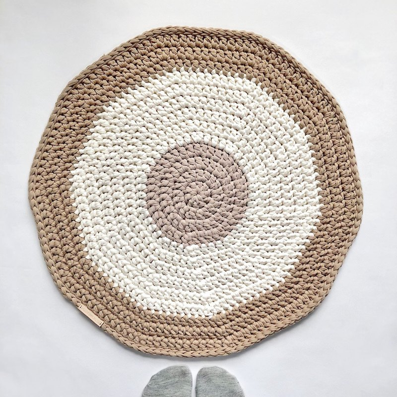 Crochet _ Carpet _ Milk Tea Circle