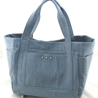 Love denim jeans handbag - light blue (washed denim)