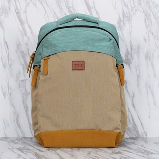 Light weighted Functional Turquoise and Mustard Yellow Large Capacity Backpack