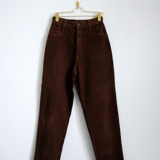 Pumpkin Vintage. Ancient corduroy trousers