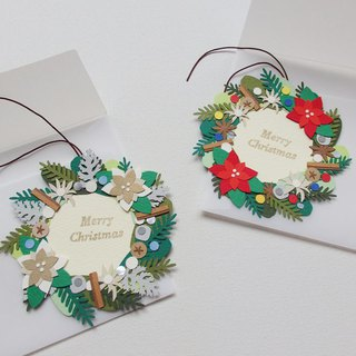 murmur's Christmas card set (Christmas wreath×2)