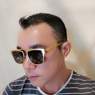 Mr.Banboo Taiwan handmade glasses [engraving old window flower king word series] sunglasses Taiwan laurel