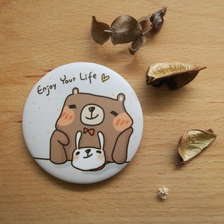 Small Planet badge │Enjoy your life_58mm