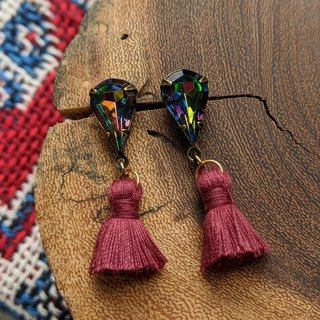 Vintage Glass Tassel Earrings