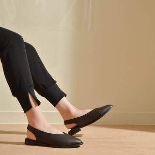 Pointed Muller Shoes Black