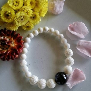 Valentine's Day [deep] hand-made X natural stone bracelet