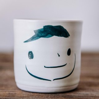 Brut Cake Handmade pottery - smiling mug 240ml-2 (12/31/2016 before buying comes Kofu coaster a)