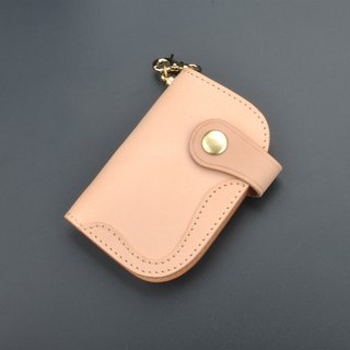 New Products Vegetable tanned leather key bag card package waist hanging free customized English uppercase letter Zodiac