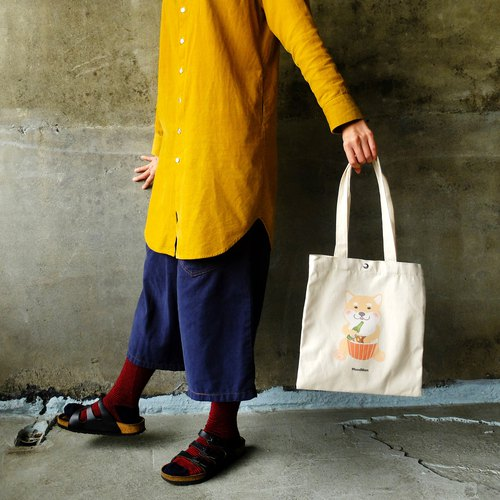 【Plastic life】 Chai Chai love to eat, canvas shopping bags