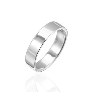Simple plain sterling silver finger ring -6mm plane withdrawal