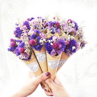 WANYI purple cone bouquet dry flower / Valentine's Day / gift / wedding / graduation / wedding small things