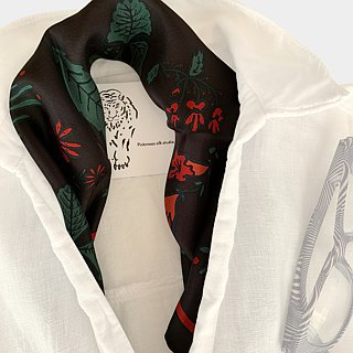 flower scarf ~ black ~