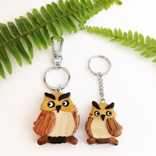 【Handmade Wooden Owl Key Ring / Charm】 ✦ November