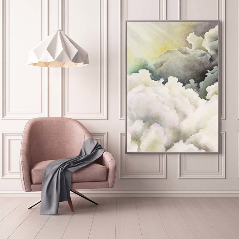 【First Light】Limited Edition Watercolor Print. Sunrise Sky Poster Wall Art.