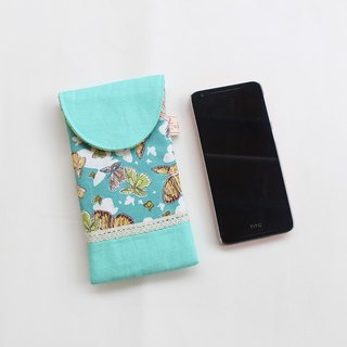 Butterfly pattern stitching lace dot mobile phone bag / storage bag can be customized