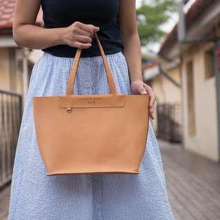 Be Two 鞣 Vegetable Leather Tote / Genuine Leather Shoulder Bag / Handbag