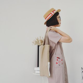 Shirt Dress (Swimming) : Khaki