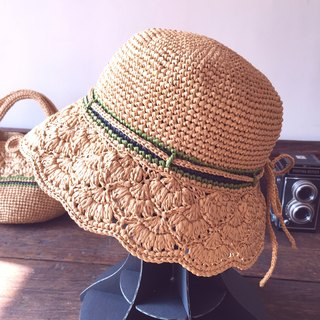 Mouth is accustomed to walking visor woven straw hat fisherman hat