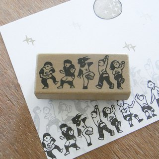 Handmade rubber stamp  Dance team 1