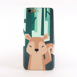 Geometric Squirrel iPhone case